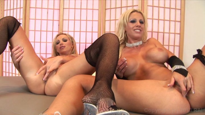 Busty Blondes Tanya James And Nikki Benz Masturbate Together