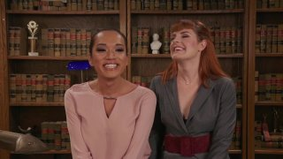 Barbary Rose and Jessica Fox Have Sex on the Couch