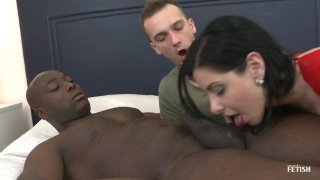 Streaming porn scene video image #3 from Filthy Whore Cuckolds Her BF With A Black Stud