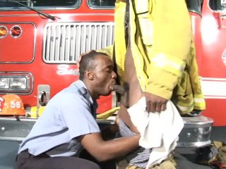 Streaming porn scene video image #1 from Black Firefighters Fuck In The Firehouse