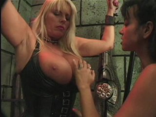 Streaming porn scene video image #2 from Lesbian FemDom Subdues Her Busty Subject