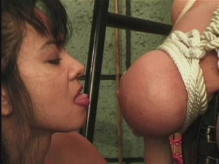 Streaming porn scene video image #6 from Lesbian FemDom Subdues Her Busty Subject