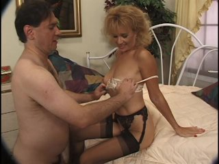 Streaming porn scene video image #2 from Sensual MILF makes her brother cock cum with feet