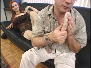 Streaming porn scene video image #1 from Dirty dad cums in his daughter stockings