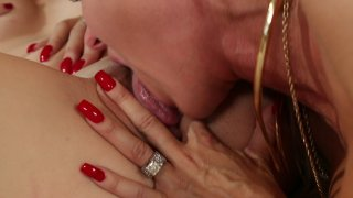 Sexy Dark Haired Babe Jessica Jaymes and Blonde Cutie Angel Smalls Enjoy Each Other in the Bedroom