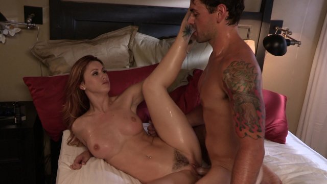 Pretty Redhead Karlie Montana Gets Nailed by Stud Ryan Driller