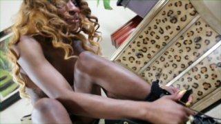 Streaming porn video still #1 from Black Tranny Whackers 24