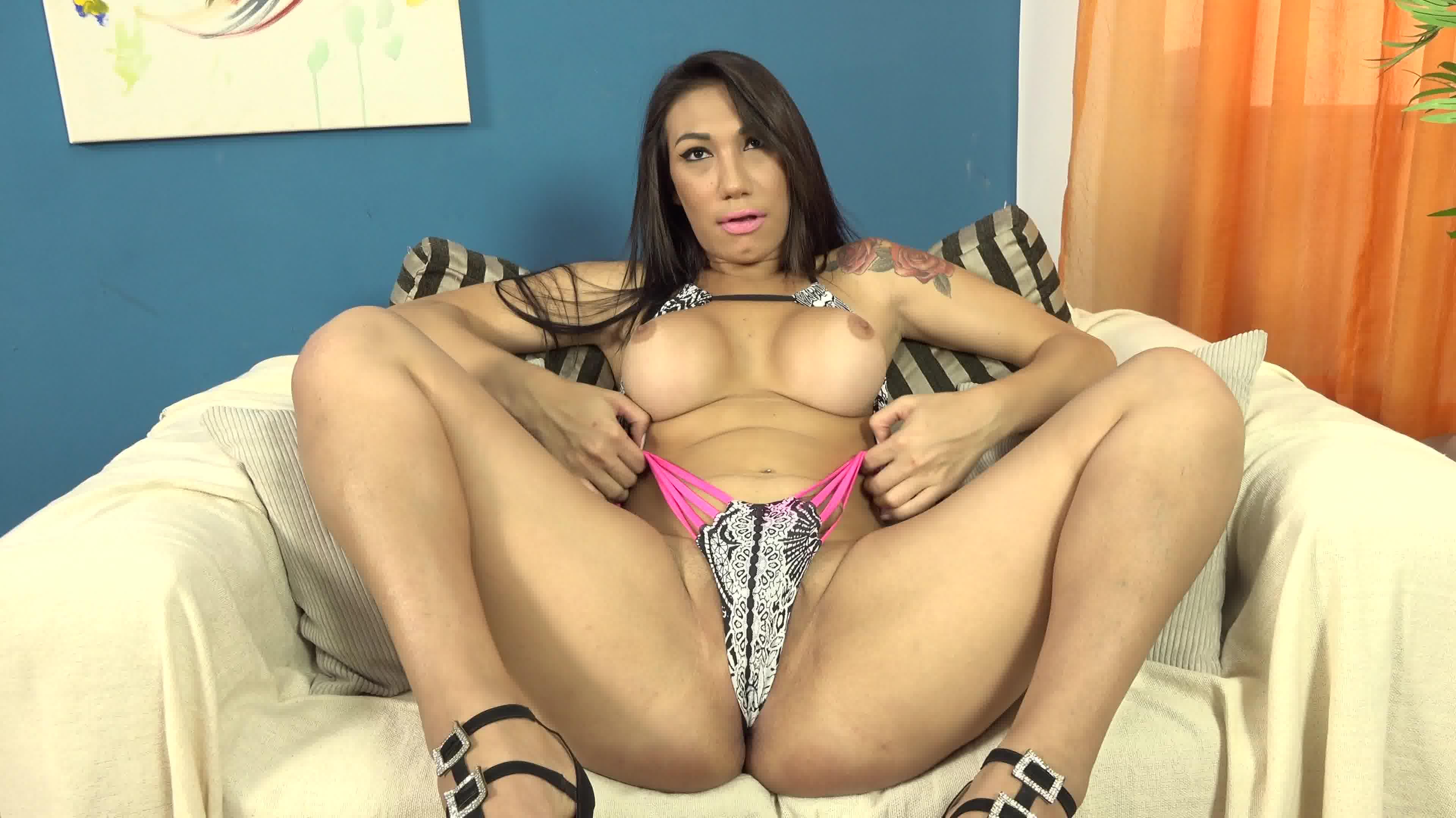 Big ass latina tranny services fat prick like a pro