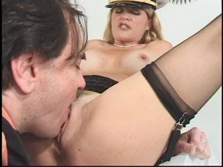 Streaming porn scene video image #4 from Juicy blonde MILF bouncing on her cousin cock