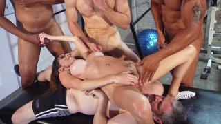 Streaming porn video still #7 from Kinky Cuckold 3 Gangbang