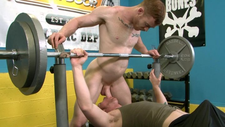 Streaming porn video still #1 from Gym Jocks: Benched & Drenched