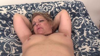 Streaming porn scene video image #5 from Mature Chunker Has Fun With Her Sex Machine