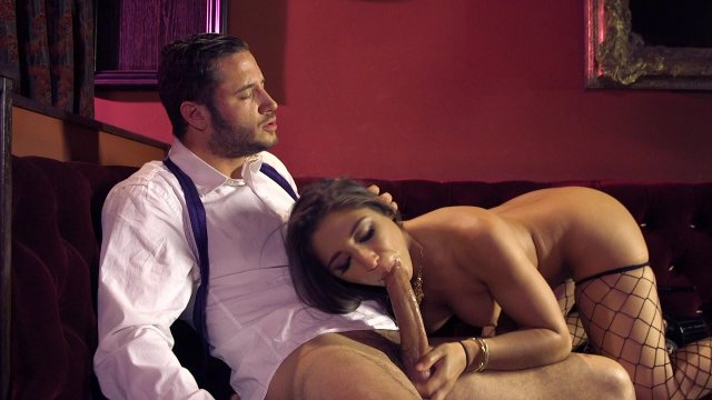 Abigail mac seduces hung stud then rides that big cock trenchcoatx
