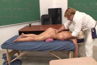 Streaming porn video still #3 from Massaged, Oiled And Fucked