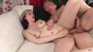 Streaming porn scene video image #9 from Old Man Has Fun With Natural MILF