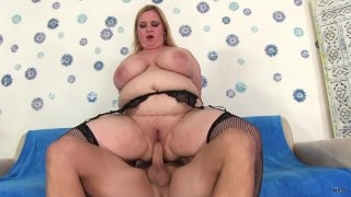 Streaming porn scene video image #3 from Blonde BBW Is Hungry For Cock
