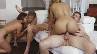 Streaming porn video still #16 from Cougar Orgy