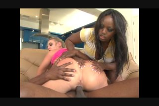 Streaming porn video still #6 from Black In White Pussy