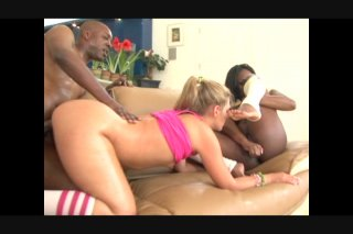 Streaming porn video still #9 from Black In White Pussy