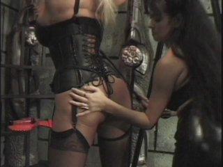Streaming porn scene video image #1 from Latex lesbian bondage