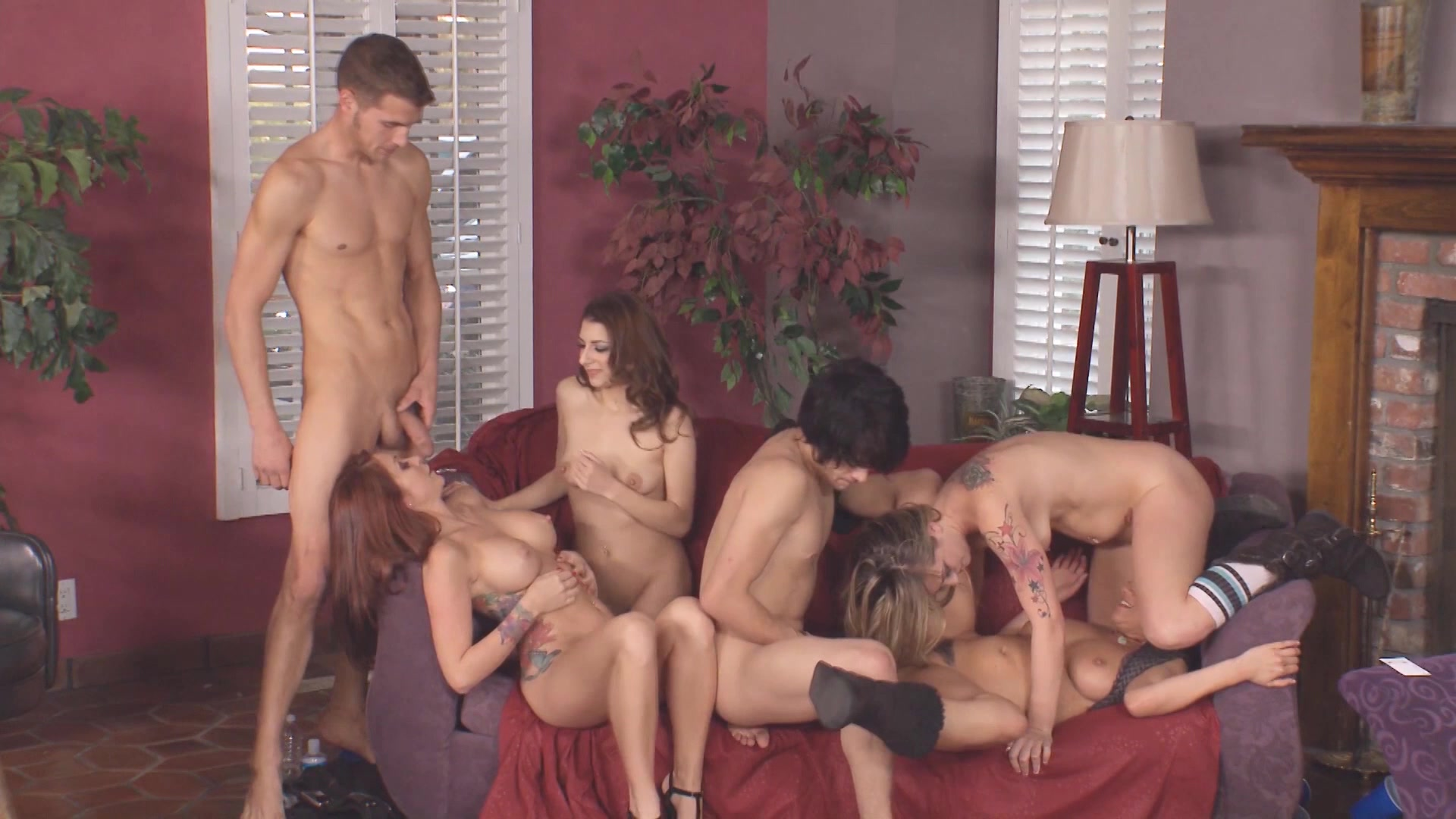 Home party turns into hardcore swingers sex hq porn