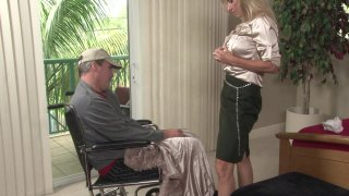 Jodi West Cuckolds Her Handicapped Husband