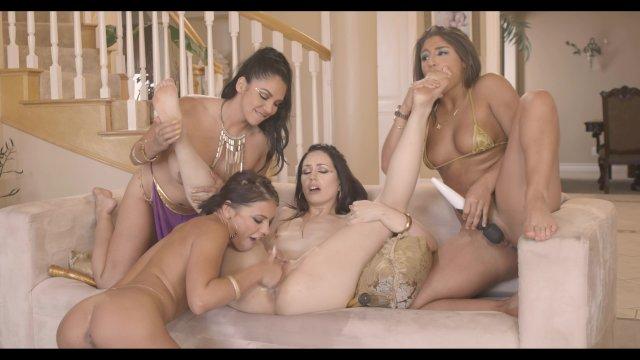 Superstar Latina Missy Martinez Takes On 3 Girls In All-Girl Orgy
