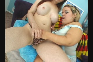 Streaming porn scene video image #1 from Lesbian midget having a good time with a busty brunette