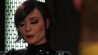 Gorgeous Dark Haired Babe Zoe Black Voss in Black Gives Marcus London a Great Blow Job