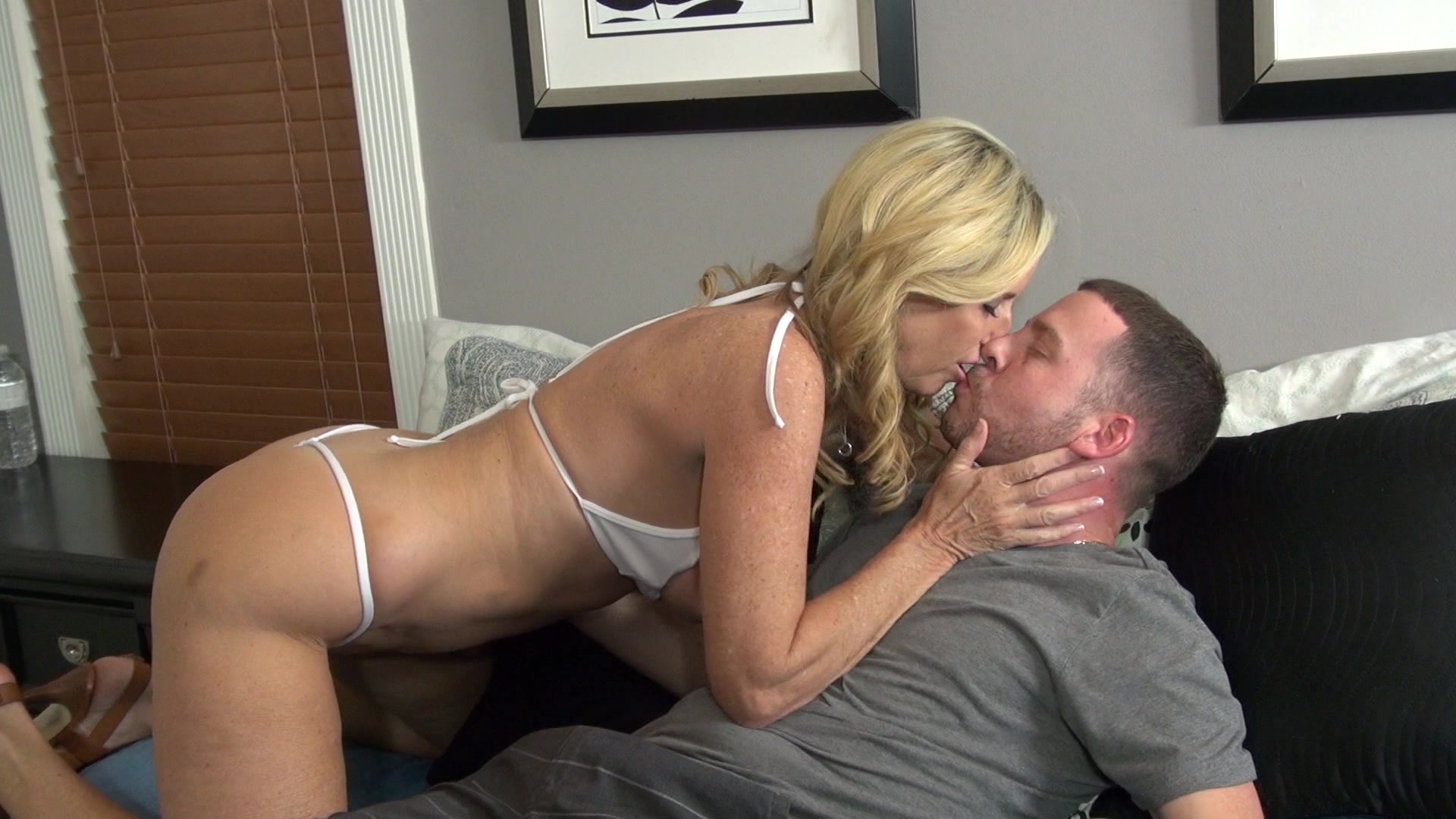 Free Hd Amazing Blonde Milf Decided To Join Her Step