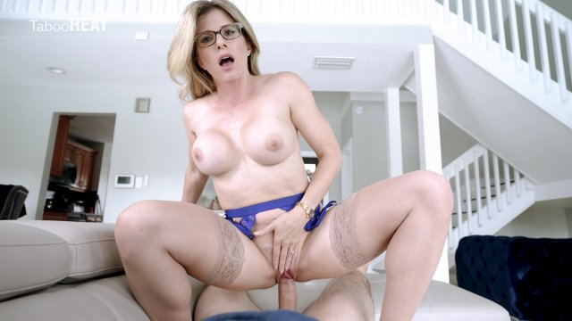 Horny MILF Cory Chase Fucks Stepson After a Long Hard Day at Work.