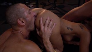 Streaming porn video still #4 from Rocco's Fitness Sluts: DP Edition
