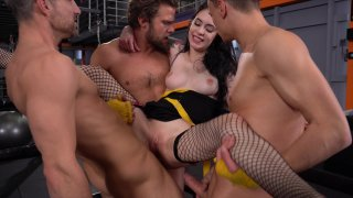 Streaming porn video still #3 from Rocco's Fitness Sluts: DP Edition