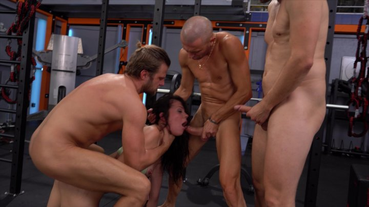 Streaming porn video still #1 from Rocco's Fitness Sluts: DP Edition