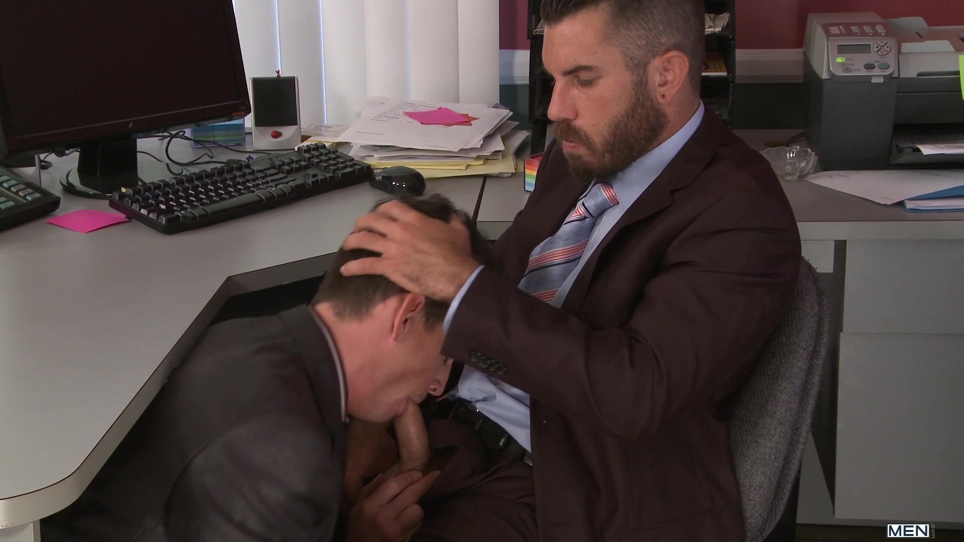 gay office free video