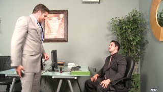 Derrick Vinyard Fucks The Nice Ass of Lex Sabre While Wearing Shirt and Tie In Office
