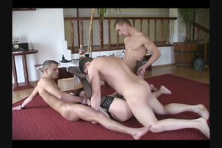 Streaming porn scene video image #7 from Slutty Brunette Takes On Three Cocks