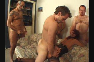 Streaming porn scene video image #1 from Mature Redhead Slut Gets Gangbanged