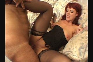 Streaming porn scene video image #3 from Mature Redhead Slut Gets Gangbanged