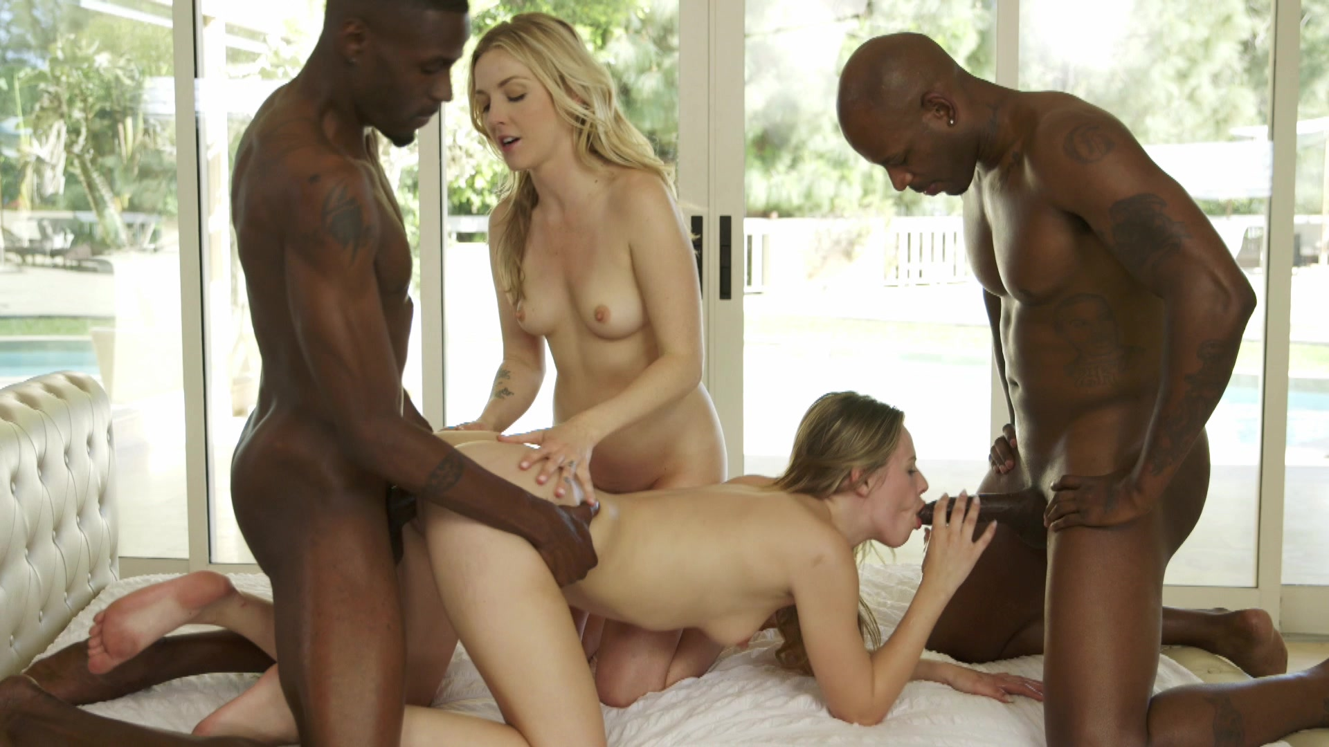 orgie previews Interracial movie