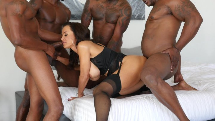 Streaming porn video still #3 from Lisa Ann's Black Out #3