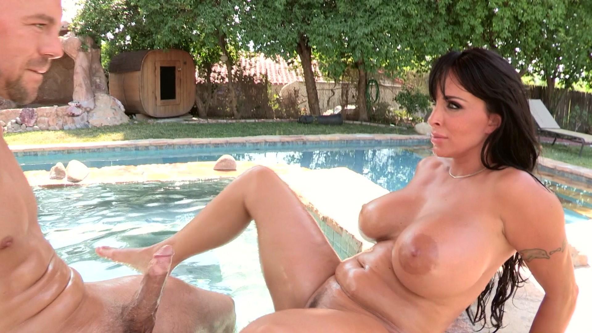 Teen lesbian pool party