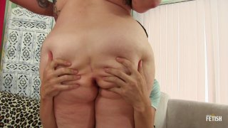 Streaming porn scene video image #1 from BBW Takes It Up The Ass