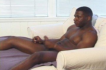 Black cock masturbating hard