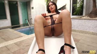 Streaming porn video still #4 from TS Cock Strokers 25