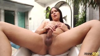 Streaming porn video still #5 from TS Cock Strokers 25