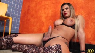 Streaming porn video still #6 from TS Cock Strokers 25