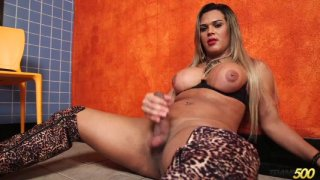 Streaming porn video still #7 from TS Cock Strokers 25