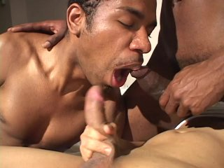 Streaming porn scene video image #3 from Black on Black on Black Threesome