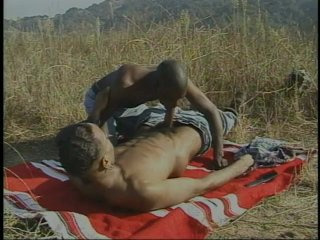 Streaming porn scene video image #4 from Black Couple Fuck Outdoors